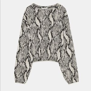 NEW ZARA printed sweatshirt
